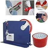 JJOnlinestore–Bolsa Cuello sellador PVC cinta frutas verduras carne ingredientes embalaje ajuste hasta 12mm de ancho cintas + libre 6rollos.