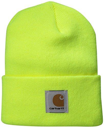Carhartt Warm Acryl Watch Hat Logo Beanie Mütze leuchtgelb Logo Beanie-mütze