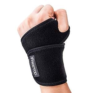 FREETOO Adjustable Wrist Support Breathable Neoprene Helps