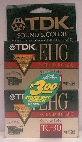 TDK e-hg Sound & Farbe Adapterkassette tc-30Tape (2er Pack) (Sounds Tc)