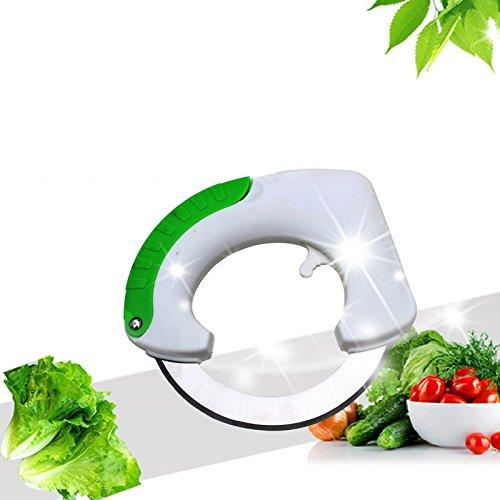 symboat Rolle Kreissägeblatt Cutter mit Kunststoffgriff Edelstahl Klinge Gemüse Pizza Lebensmittel Allesschneider Cut Werkzeug-Küche