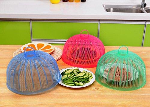Grüne Kunststoff-Lebensmittel Deckel fliegen, mückendicht Schüssel Deckel kochen Abdeckung Essen Abdeckung Moskito decken 3er-Pack