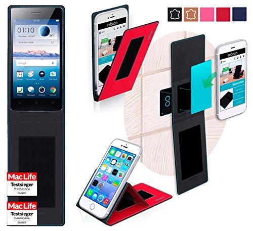 reboon Oppo Neo 5s Hülle Tasche Cover Case Bumper | Rot | Testsieger