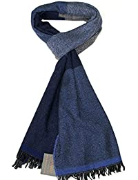 Echarpe laine Homme Lovarzi – Echarpe rayures de luxe hiver pour hommes –  Made ... f6d7bea3aa9