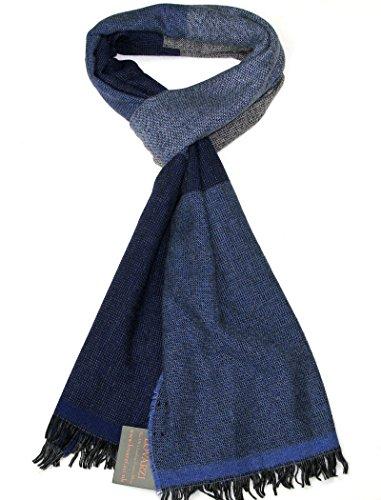 LOVARZI Blau Herren Tuch Wolle Schals für Herren - Wolle Herrenschal - Kaschmir schal für Männer