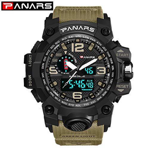 FDBF Sport Digital Watch Men Militray Big Dial Watches Mens Waterproof Clock