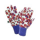 Miracle-Gro mg64000Damen Leinwand Handschuhe mit Knit Handgelenk, M/L, Violett