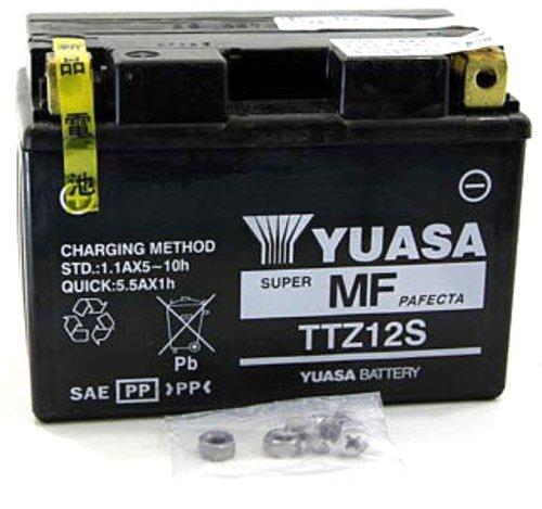 MIM Distribution Batteria YUASA TTZ12S-BS Honda NSS Forza X (MF08) 250 2005 12V 11 Ah con Acido per Honda-Forza 250 X dal 2005 Fino al 2007