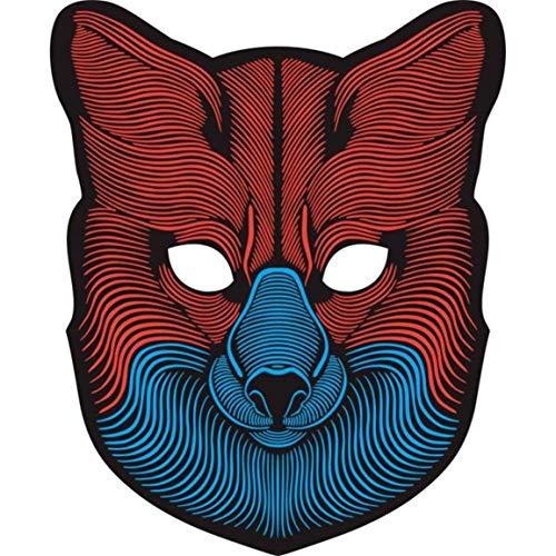 Moonuy Algenschlamm Vollgesichtsmaske Halloween Tanz Maske Sound Reaktive Vollgesichts Leuchten Maske Dance Rave EDM Plur Party