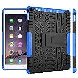 WindCase iPad Air 2 Hülle, Outdoor Dual Layer Armor Tasche Heavy Duty Defender Schutzhülle mit Ständer Case für iPad Air 2 (iPad 6) Blau