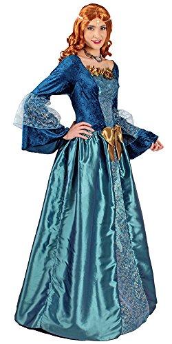 Mittelalter-Kleid / Prinzessinen-Kleid in türkis-blau | Größe 48/50 | Burgdamen-Kleid für Karneval (48/50)