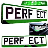 Car Registration License Number Plate Surrounds Holder Frame ALL STYLES (GREEN) - TAPORT® - amazon.co.uk