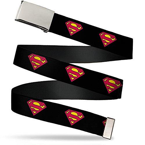 Buckle Down Herren Gürtel mehrfarbig mehrfarbig Gr. 4 cm Breit-Passt bis zu 117 cm, mehrfarbig Batman Logo Belt Buckle