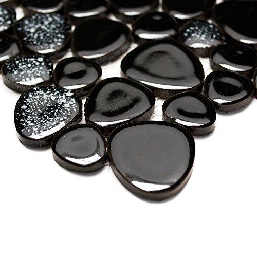 4019525677129 mosaque salle de bain carrelage cramique classic galets noir uni 5 mm neuf 193 - Galet Noir Salle De Bain