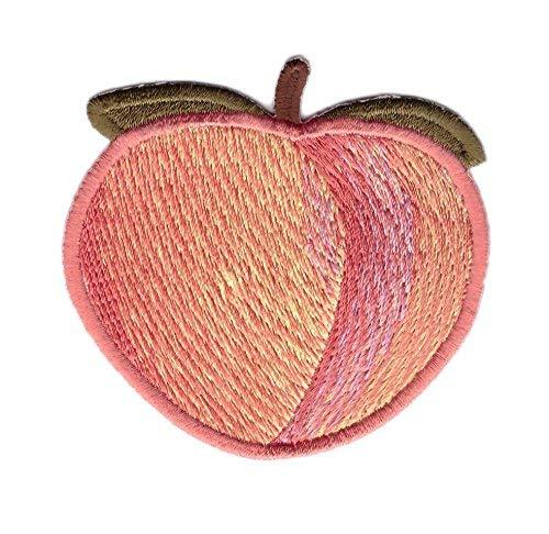 Titan One Europe - Peach Fruit Cartoon Emoji Booty Punk Jacket Decorative Girl Jeans Jacket Patch Iron On Bag Jeans Jacket Embroidered Patch Iron On Pfirsich Frucht Aufnäher Aufbügler Patch -