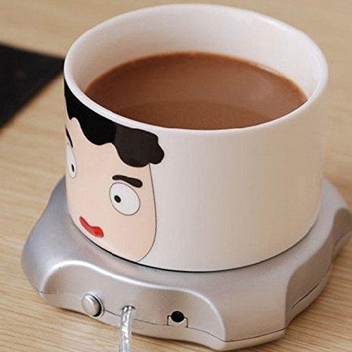 Tenflyer USB-Tee-Kaffeetasse-Wärmer-Heizungs-Auflage mit 4 Port USB Hub PC Laptop Schokolade