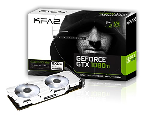 KFA2 GeForce GTX 1080 Ti EXOC White GeForce GTX 1080 TI 11GB GDDR5X - Graphics Cards (GeForce GTX 1080 TI, 11 GB, GDDR5X, 352 bit, PCI Express 3.0, 2 fan(s))
