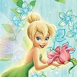 Disney Amscan Tinkerbell Lunch/Servietten Blumen