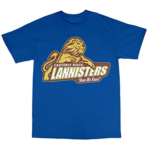 Casterly Rock House Lannister T-Shirt Baumwolle Königsblau