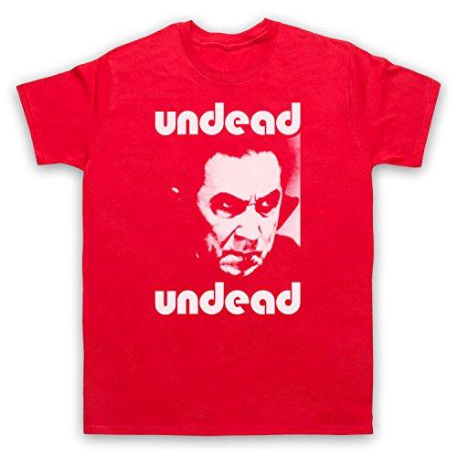Inspiriert durch Bauhaus Bela Lugosi's Dead Unofficial Herren T-Shirt, Rot, 5XL
