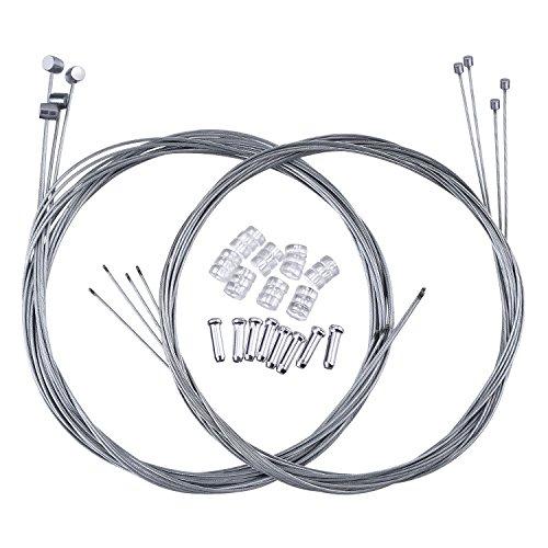 2 Set Mountain Fahrrad Bremse Kabel Getriebe Kabel Draht und Kabel Ende Crimps Kit