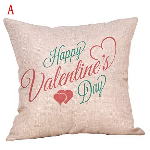 Yvelands home quadrato federa cuscino set custodia piazza gettare soft solid decorativa federe set cuscino per divano letto auto pillow,felice san valentino cuscino a