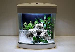 nano aquarium xcube in wei komplettaquarium led beleuchtung mondlicht filter. Black Bedroom Furniture Sets. Home Design Ideas