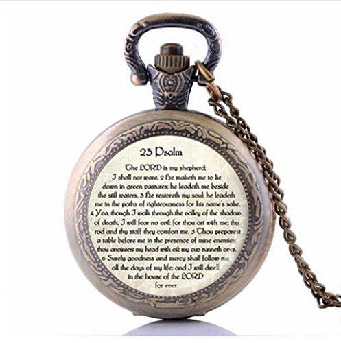 23. Psalm Schmuck, Scripture Taschenuhr Halskette, Psalm 23Halskette, Bibel Vers Anhänger, Scripture Jewelle Geschenk