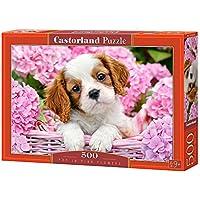 CASTORLAND Pup in Pink Flowers 500 pcs 500pieza(s) - Rompecabezas (Jigsaw Puzzle