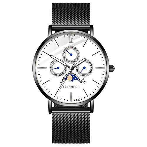 XZDCDJ Quartz Uhr Herren Digital Armbanduhr Mode herrenuhr Legierung Business Mesh Band F - Lace Mesh Band
