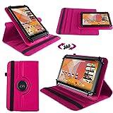 NAUC Tasche Hülle für Blaupunkt Endeavour 101M 101L Tablet Schutzhülle Case Tab Cover, Farben:Schwarz