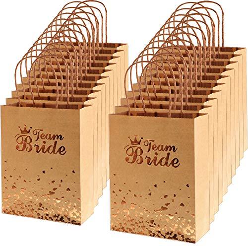 Bronzing Braut Tasche Andenken Nacht Geschenk Party Tasche mit Griff für Geburtstag Hochzeit Braut Baby Dusche (Satz 6, 18 Stück) ()