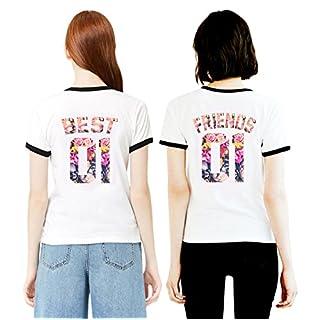 Best Friends T-Shirts für 2 Mädchen Sister Aufdruck – Sommer Oberteile Set  für Zwei f235dddb34