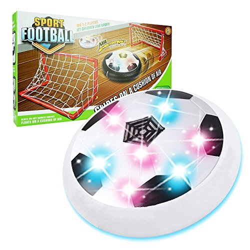 Our-Day Blinkender LED Hover Ball Set für Kinder xfzq01- Best Geschenke für Kinder, White with 2 Gates