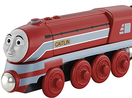 Thomas and Friends Wooden Railway Toy - Caitlin Engine - King of the Railway - Real Wood