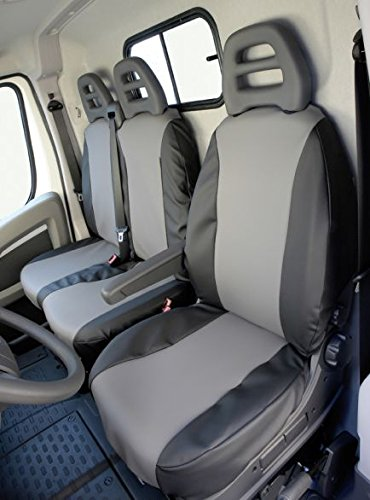 Preisvergleich Produktbild Heimsch Design Sitzbezug für Fiat Fiorino, Bj. ab 03/2008, Kunstleder, Beifahrer-Klappsitz