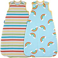 The Gro Company Grobag Sleeping Bag, Rainbow Stripe, 6-18 m/2.5 Tog, Twin Pack - ukpricecomparsion.eu