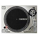 Reloop RP-7000 MK2 Silver – Professioneller DJ Plattenspieler mit Upper Torque Quartz Direktantrieb, neuer Tonarmbasis, höhenverst. (VTA) statisch ausbalancierter S-Tonarm, hochauflösende Pitch Sektion mit digitalem Fader, Motorsteuerung (silbermetallic)