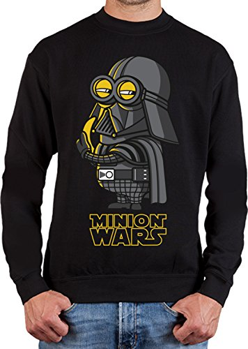 adrotes® Minion Wars Banana Vader Parody - Sweatshirt - Gr.S-5XL (Me Despicable Brille)