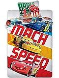 Unbekannt Faro 879 Cars Biancheria da Letto per Bambini Motivo Cars, 140 x 200 + 70 x 80, Cotone, Multicolore, 2 Pezzi