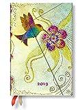 Paperblanks - Laurel Burch Kolibri - Kalender 12 Monate 2019 Mini Wochenüberblick Horizontal - deutschsprachige Ausgabe