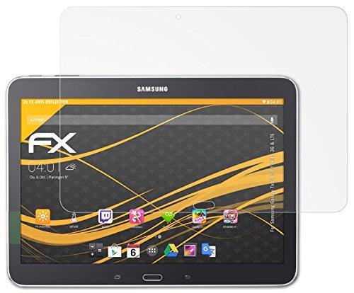 Samsung Galaxy Tab 4 10.1 (WiFi, 3G & LTE) Displayschutzfolie - 2 x atFoliX FX-Antireflex blendfreie Folie Schutzfolie