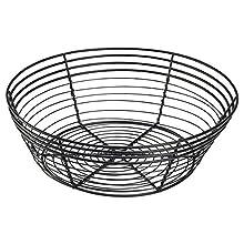 Genware nev-wb25bk Wire basket, rotondo, 25.5 cm x 8 cm