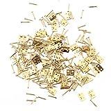Kesheng 50x Mini Scharnier Schrauben Golden Kupfer für Schrank Möbel Ersatzteile
