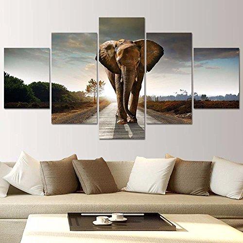 Mr.Lee Póster de elefantes 5 Hechizo Salón pinturas murales decorativos,30x40cmx60cmx2,30x2,30x80cmx1