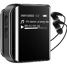 Reproductor de MP3 8G,Mp3 Running Mp3 Radio Fm BAONUOR Reproductor de música MP3 con Clip Grabación 36 horas Reproducción