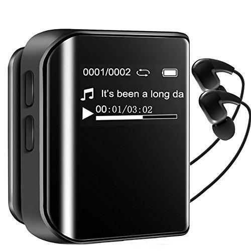 MP3 Player Mini Spritzwasserdicht Baonuor 8G Sport Musik Player mit Clip FM Radio Aufzeichnung 36 Stunden Wiedergabe