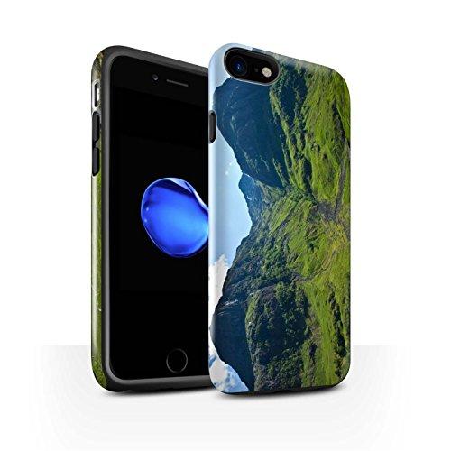 STUFF4 Glanz Harten Stoßfest Hülle / Case für Apple iPhone 8 / Felsig Strom Muster / Schottisch Landschaft Kollektion Tal