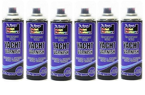 6-x-multi-purpose-clear-yacht-varnish-spray-all-purpose-exterior-interior-waterproof-250ml-new