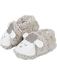 Itaar Zapatos para Bebé Primeros Pasos para Niños y Niñas Diseño de Oveja Color de Gris y Rosa